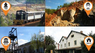 Museo + Casa21 + Peña de Hierro + Ferrocarril diesel
